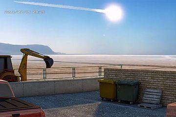 Meteoriteneinschlag in den Niederlanden