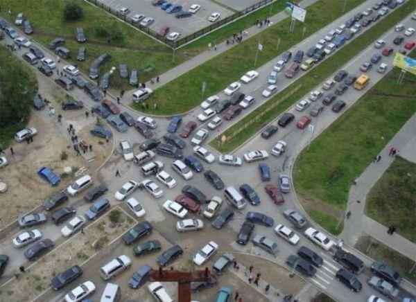 Verkehrschaos in Ingolstadt verursacht durch Fahrschüler.